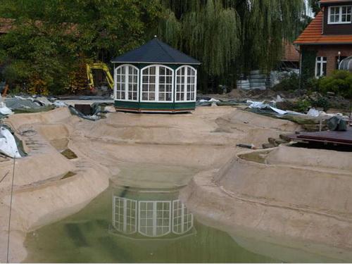 Breite eines Schwimmteiches