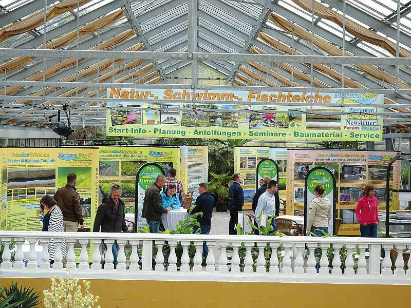 Alljahrliches Treffen In Der Grossen Palmenhalle Bei NaturaGart Wichtigstes Thema Schwimmteich Selbstbau