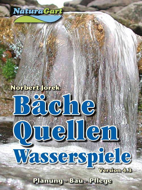 Titelblatt des Handbuchs Bäche, Quellen, Wasserspiele