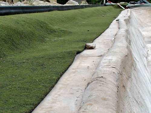Ufermatte schützt vor Eisschäden
