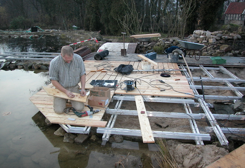 Konstruktion Stege Und Brucken Am Teich