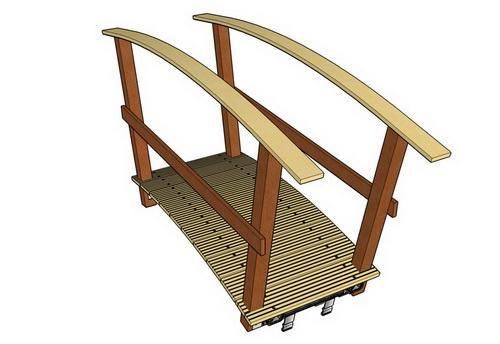 Brückengeländer aus Holz