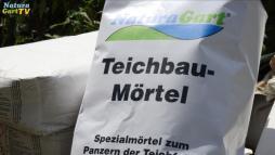 Einsatz von Teichbau-Mörtel