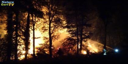 Großbrand neben NaturaGart