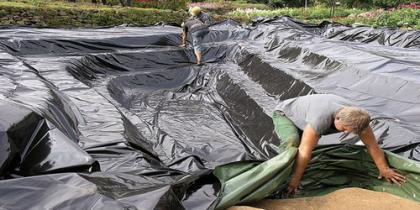 Teichgrube sichern