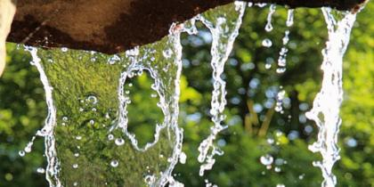 Höhen von Bächen und Wasserfällen