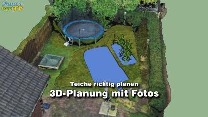 3D-Teichplanung mit Fotos
