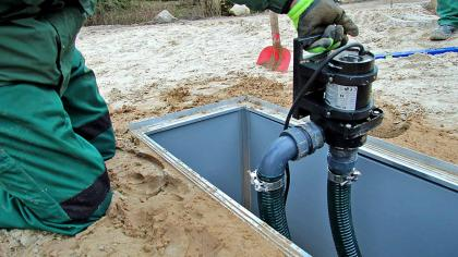 Pumpe richtig einbauen