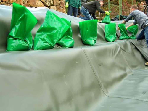Sandsäcke bereithalten