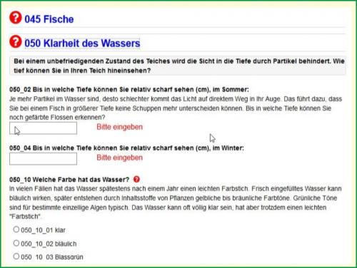 Kostenloses Teich-Tagebuch
