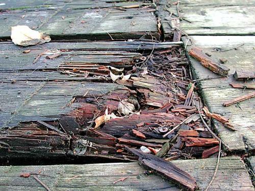 Reine Holzstege verrotten oft schnell