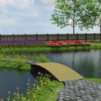 Kosten und Montage einer Teichbrücke | Gartenteich Planung, Bau ...