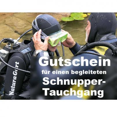 Schnuppertauchen bei NaturaGart, Gutschein per Post