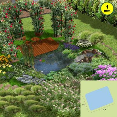 Libellen-Teich, ca. 8 m² Oberfläche, rechteckig