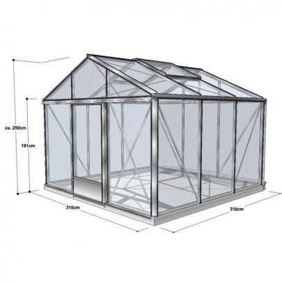 naturagart shop gew chshaus cultura sd16 310 310 online kaufen. Black Bedroom Furniture Sets. Home Design Ideas