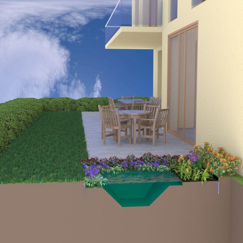naturagart shop terrassenteich 150 x 200 cm online kaufen. Black Bedroom Furniture Sets. Home Design Ideas