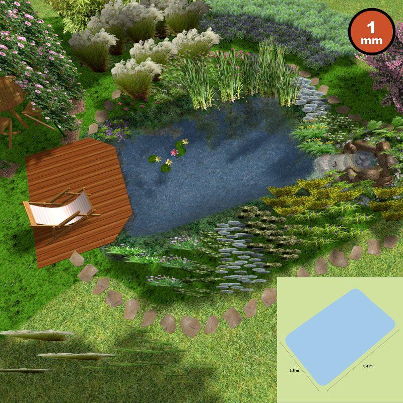 naturagart shop molch teich ca 19 m oberfl che. Black Bedroom Furniture Sets. Home Design Ideas