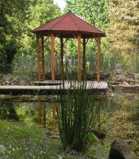 Pavillons erweitern den Wohnraum in den Garten hinein