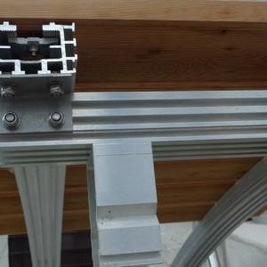 Einfach zusammenbaubare Tragkonstruktion für Teichbrücken und Teichstege
