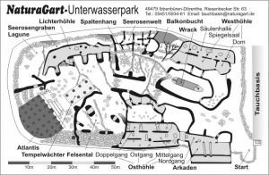 Tauchpark Karte NaturaGart Unterwasserpark