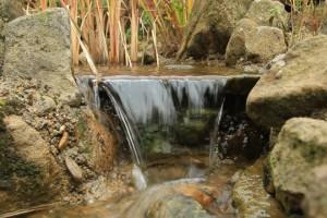 Wasserfall eines Bachlaufs