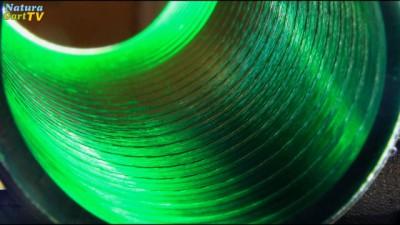 Innenansicht eines PVC-Flexrohres