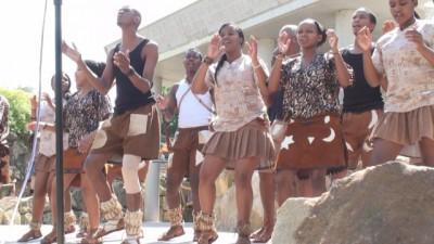 Afrikanische Tänzer Vorführung