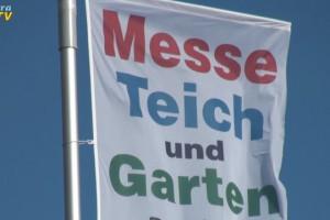 Fahne der Messe Teich und Garten
