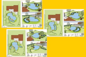 Das Ergebnis sind 3 Gartenteich Varianten für Form und Lage