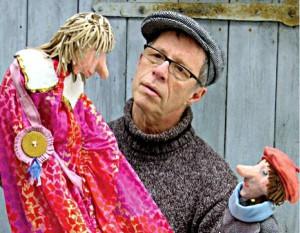 Puppenspieler mit Puppen