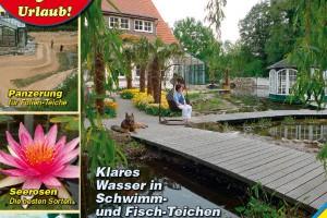 Titelbild des Teichbau-Katalogs 2012