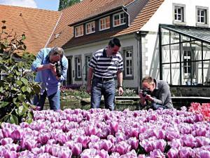 Fotokursteilnehmer im NaturaGart Park
