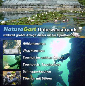Der einmalige NaturaGart Unterwasserpark bietet ein unvergessliches Taucherlebnis