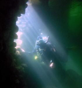 Lichteffekte unter Wasser