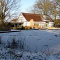 Das Café Seerose bietet einen fantastischen Ausblick auf die winterliche Teichlandschaft