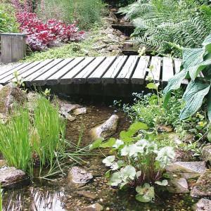 Teich, Bachlauf, Brücke: Raum für Menschen und Tiere