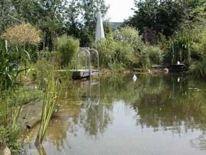 Auch Schwimmteiche gibt es im Set. Der Teichsteg ist kostenpflichtiges Zubehör