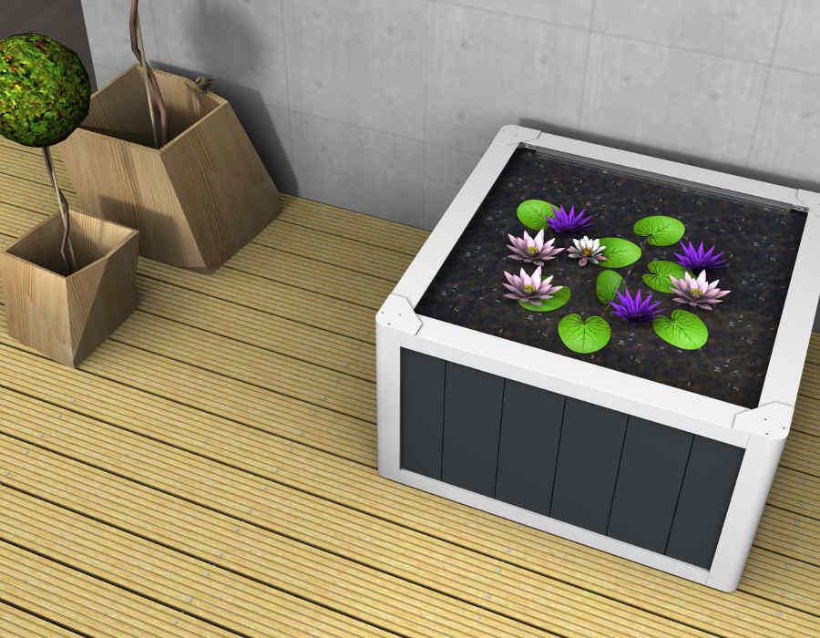 miniteich balkon miniteich anlegen kleine oase auf dem balkon kreieren design 5001355. Black Bedroom Furniture Sets. Home Design Ideas