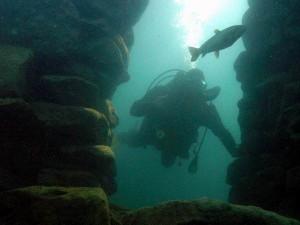 Höhlentauchen im NaturaGart Unterwasserpark