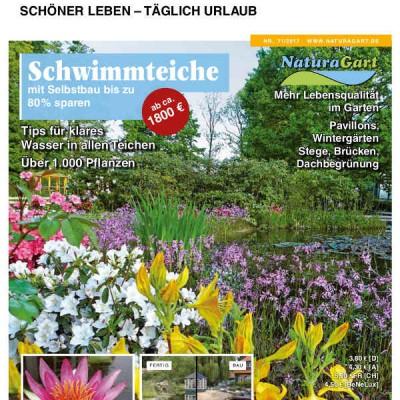 Das Katalog 2017. Das neue Titelblatt zeigt einen Naturteich aus dem Park.