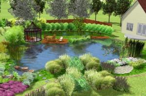 Der Kleingarten-Schwimmteich ist komplett ab 3722,00 Euro erhältlich
