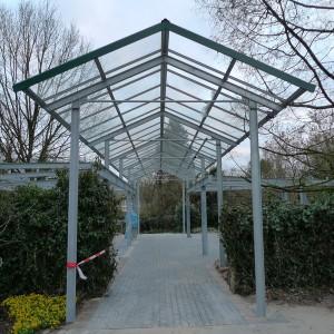 Neubau des Park-Einganges