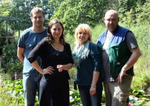 Das ÖKOPROFIT-Team von NaturaGart: Klaus Witzlack. Brigitte Kovermann, Silke Kraus und Dr. Holger Kraus (von rechts)
