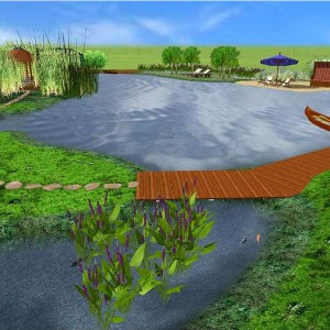 Machen Sie sich eine genaue Vorstellung, bevor Sie Ihren Schwimmteich bauen
