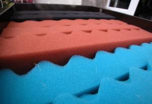 Teichfilter-Modul für den Schwimmteich: der Filterschaum kann von grob bis fein variabel kombiniert werden