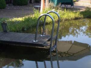 Steg im Schwimmteich