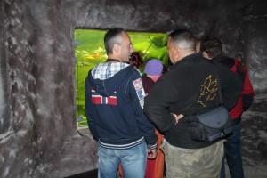 Der Grottenteich: Einer der ersten Teiche im Park mit eingebauten Teichfenstern. Die Prozesse im Teich unterliegen jahreszeitlichen Einflüssen.