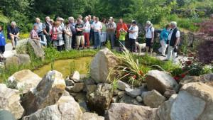 Das Teichpflege-Seminar von NaturaGart findet mitten aus der Praxis an den Teichen im Park statt.