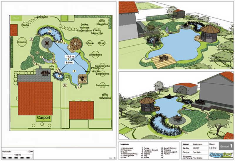 Teichplanung gartenteich planung bau und pflege for Teichgestaltung ideen