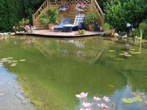 Klares Wasser: Ein Filtergraben minimiert den Aufwand.